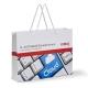 Papiertasche mit Baumwollkordeln 185 gsm glanz plastifiziert
