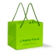 Elde Einkaufstasche aus Papier vollflächig eingefärbt und eingefärbten Henkeln